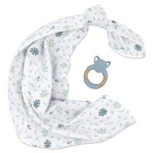 Banana Leaf Swaddle and Teether Set