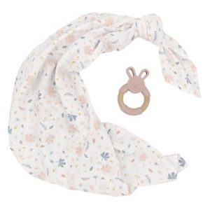 Botanical Swaddle and Teether Set