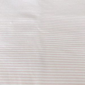 White and Pink Stripe Swaddle