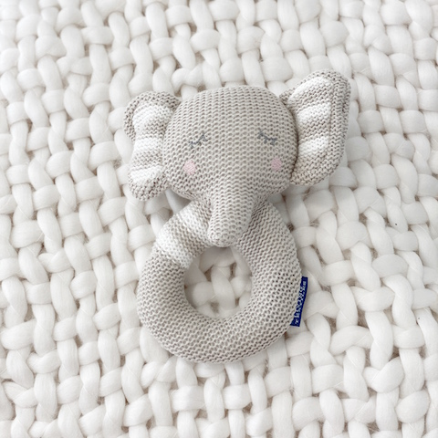 Elephant-Knitted-Rattle
