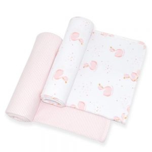 Swan Cotton Jersey Swaddle